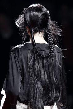 Hair at Yohji Yamamoto S/S 2008