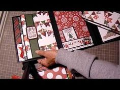 This is the finale of the Christmas Tri Fold Tutorial. Both paper pads are very pretty and ea. Christmas Mini Albums, Christmas Scrapbook Pages, Christmas Journal, Christmas Diy, Christmas Cards, Holiday, Diy Mini Album, Mini Albums Scrap, Mini Album Tutorial