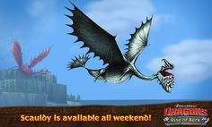 This weekend scauldy and changewing if toothless done is with searching for the zippleback i will search for scauldy