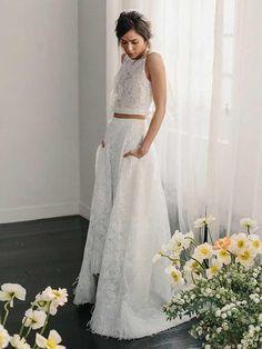 A-line Scoop Floor-length Sleeveless Tulle Prom Dress/Evening Dress #V - DemiDress.com