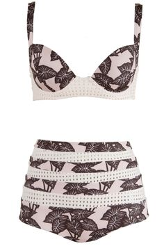 Let's Have a Tiki Acacia bathing suit $238,, acaciaswimwear.com.