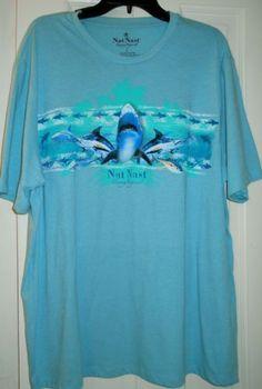 f7938c9b Details about New Nat Nast Luxury Originals Shark Marlins Tuna Fish Green  T- Shirt~L