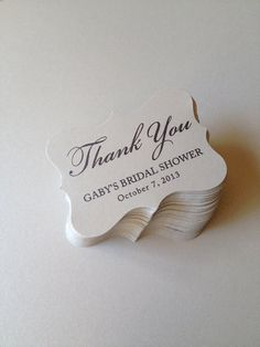 Wedding Favor Tags Party Favor Tags Thank You by SweetiePeonies, $11.50