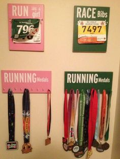 How to display running medals! Cute!