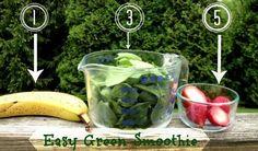Easy Green Smoothie via Sarah White Mindfully Frugal Mom tasty green smoothies; Healthy Green Smoothies, Green Smoothie Recipes, Juice Smoothie, Smoothie Drinks, Fruit Smoothies, Smoothie Detox, Healthy Drinks, Healthy Snacks, Healthy Eating