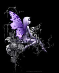 Fairy Picture in your purple & black bedroom