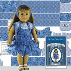 Art Dolls-ooak Dolls Punctual Dolls Dress Black Scottie Dog Design Fabric Fits Little Darling Dolls 13 To 14 I