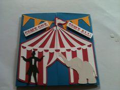 cricut cards using carousel cartridge Cricut Invitations, Carnival Invitations, Carnival Themes, Birthday Invitations, Circus Theme Party, Carnival Birthday Parties, Birthday Party Themes, Boy Birthday, Kendall Birthday