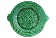 French Majolica Fish Plate