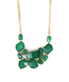 i am loving chunky emerald green jewelry right now