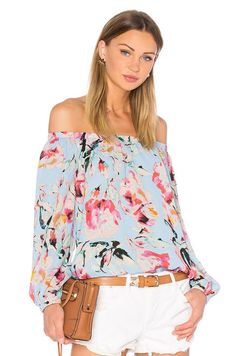 Eight Sixty Stella Off The Shoulder Top in Sky Blue | REVOLVE