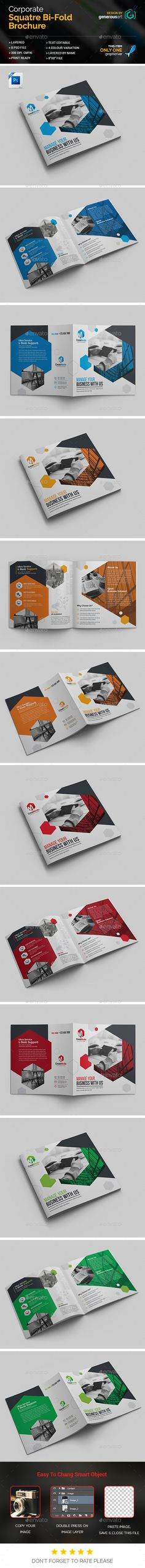 Business Square Bi-Fold Template - Corporate Brochures Download here : https://graphicriver.net/item/business-square-bifold-template/19472229?s_rank=27&ref=Al-fatih