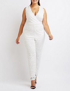 8e6e3c84a1d Plus Size Lace Surplice Jumpsuit -- Read more reviews of the product by  visiting the