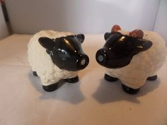 A lovely cute cruet set modelled as a ram and ewe with their curly wool coats. Vintage Tableware, Piggy Bank, Sheep, Salt, My Etsy Shop, Wool, Cute, Vintage Dinnerware, Money Box