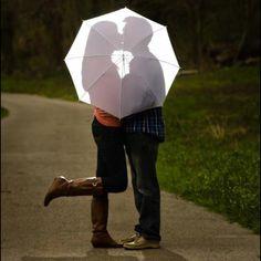After wedding pics! Behind the umbrella ;)