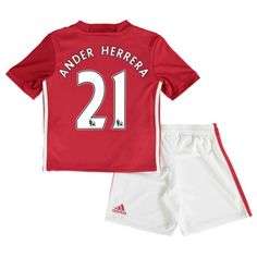 Manchester United Trøje Børn 16-17 #Ander Herrera 21 Hjemmebanetrøje Kort ærmer.199,62KR.shirtshopservice@gmail.com