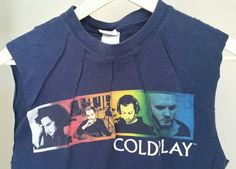 Coldplay darted muscle tee