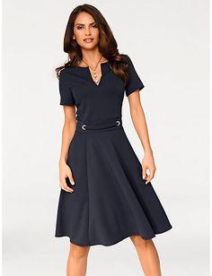 784554d003 Ashley Brooke - Prinzesskleid marine im Heine Online-Shop kaufen Dress  Trousers, Office Dresses