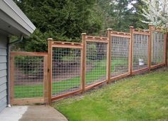 Residential Wood and Wire Fencing