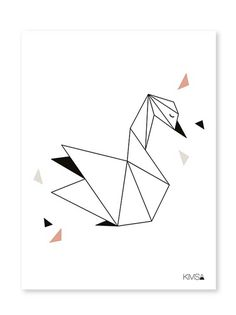 Lilipinso | Origami Play Swan – poster #feedesfleurs