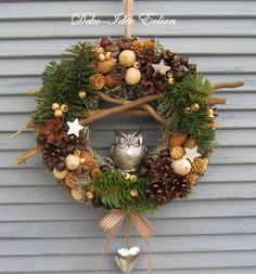 Deco Wreaths, Xmas Wreaths, Autumn Wreaths, Mary Christmas, Christmas Crafts, Christmas Decorations, Wreath Crafts, Decor Crafts, Diy And Crafts