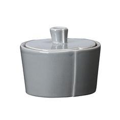 VIETRI - 'Lastra' Collection, Gray - Sugar Bowl