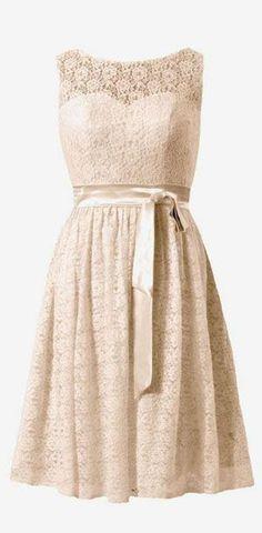 DaisyFormals Short Lace Bridesmaid Dress Vintage Scoop Lace Party Dress