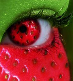 Summer Series - Strawberry Eye by MEGAN-Yrrbby on deviantART