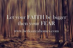 Let your FAITH be bigger then your FEAR #motivational