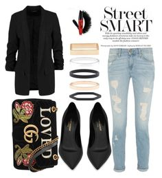 """""""Untitled #14"""" by daaniraa ❤ liked on Polyvore featuring Yves Saint Laurent, Accessorize and Gucci"""
