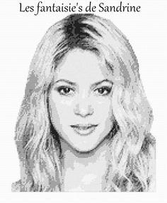 Grille point de croix Shakira : Broderie par les-fantaisie-s-de-sandrine