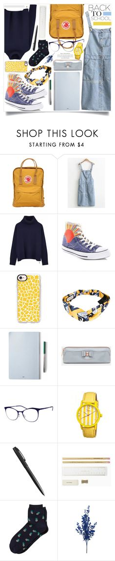 """""""Go Back-to-School (3)"""" by skrzatia ❤ liked on Polyvore featuring Fjällräven, Ille De Cocos, Converse, Casetify, Gucci, The Idle Man, Ted Baker, Italia Independent, Boum and Banana Republic"""