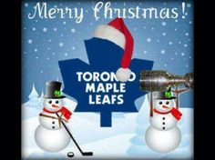 MERRY CHRISTMAS Merry Christmas, Christmas Ornaments, Toronto Maple Leafs, Blue And White, Leaves, Holiday Decor, Hockey Stuff, Dessert Recipes, Jokes