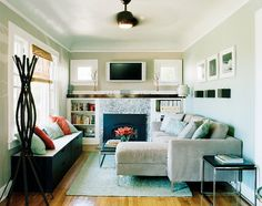 Small, cosy, neutral. That's how I like my living room best.