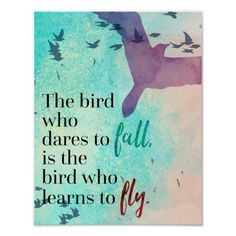 Learn To Fly Quote Canvas Print by The Daily Quotes Fly Quotes, Bird Quotes, Motivational Quotes For Life, Quotes To Live By, Inspirational Quotes, Quotes About Birds, Quotes About Flying, Feather Quotes, Bird Sayings