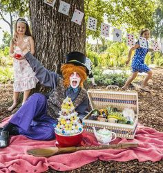 """Come and be part of a regional food wonderland in the shade of the Bendigo Botanic Gardens, where Central Victoria's local food network Food Fossickers present """"A picnic with the Mad Hatter"""".  http://www.foodfossickers.com.au/"""