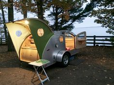 Camping is a good pastime activity that families should partake in at least once every season year. Taking your family out for camping has got [. Mini Caravan, Teardrop Camper Trailer, Tiny Camper, Small Campers, Camper Caravan, Micro Campers, Camper Life, Small Travel Trailers, Tiny Trailers