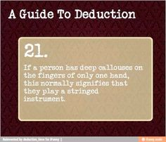A guide to deduction 21
