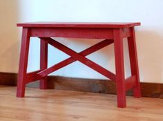 I want to make this!  DIY Furniture Plan from Ana-White.com  A very sturdy little rustic X bench. Features an easy to make cross brace and splayed legs for added stability.