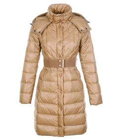 shop moncler - Moncler Cheap Down Coats Women Belt Decoration Khaki