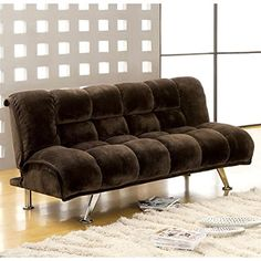 Night And Day Furniture Home Decorative Trinity Queen Futon Frame Java     Read More Reviews Of The Product By Visiting The Link On The Image.