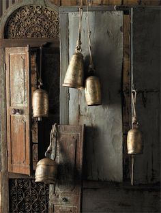 Antique temple bells.  I love the old temple bells, they have a beautiful sound to them.