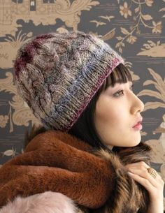 Noro Magazine Issue 17 Fall Winter 2020 - 15 Cabled Hat Winter Accessories, Crochet Accessories, Winter Hats, Fall Winter, Knitting Magazine, Circular Knitting Needles, Pattern Books, Beautiful Patterns, Knitted Hats