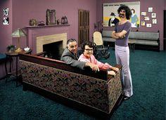 Frank Zappa empfängt seine Eltern Francis und Rosemary in seinem Apartment in Los Angeles.