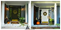 Before/After ~ Black Door/White Door.  What a difference the white door makes!