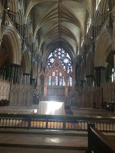 The High Altar in Lincoln Cathedral.