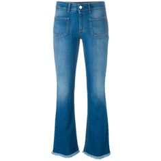 Stella McCartney bootcut jeans (5.514.595 IDR) ❤ liked on Polyvore featuring jeans, blue, bootcut jeans, stella mccartney jeans, boot-cut jeans, bleached blue jeans and bleached jeans