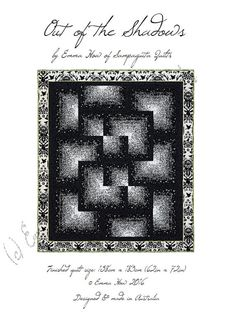 By popular demand, here is the PDF pattern is for my original Out of the Shadows Quilt. Bold colouring and unconventional orientation of quite a traditional block make this quilt glow! The pattern includes step-by-step instructions with diagrams and photographs to help you. Its not a difficult quilt to make. The quilt measures approximately 62 x 72. Upon receipt of payment you will receive an email from Etsy advising that your file is ready to download. The email contains a link which wil...