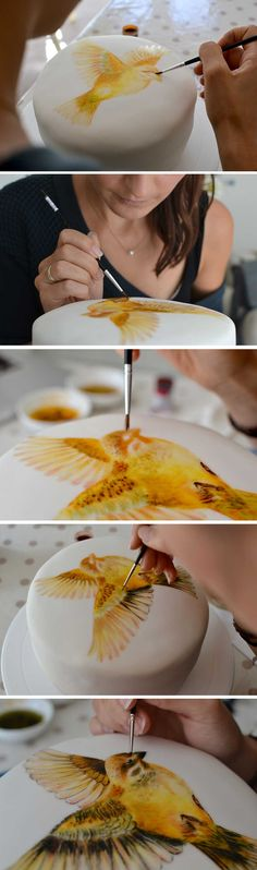 MurrayMe hand painted cake - step by step photos