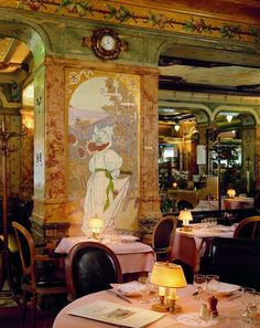 Hugs from Paris! If you love Art Nouveau, the place to eat is Brasserie Mollard in Paris. I totally fell in love with the place, it's the temple for Art Nouveau and one of the oldest brasseries in the city, dating back to 1895. Very close to the Gare Saint-Lazare where Henry Miller met her Mona and fell in love. Also Anaïs Nin was passing though Saint-Lazare often on her way home to Louveciennes. https://www.facebook.com/sofioksanen